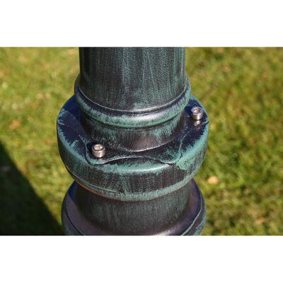 vidaXL Vrtna stupna svjetiljka 215 cm tamnozelena/crna aluminijska
