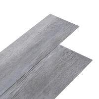 vidaXL Podne obloge od PVC-a 5,02 m² 2 mm samoljepljive siva boja drva