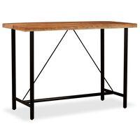 vidaXL Barski stol od masivnog bagremovog drva 150 x 70 x 107 cm