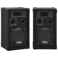 vidaXL Profesionalni pasivni scenski zvučnici HiFi 2 kom 800 W crni