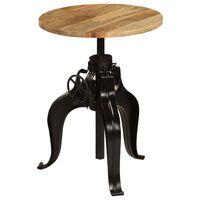 vidaXL Barski stol od masivnog drva manga 60 x (76 - 110) cm