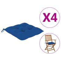 vidaXL Jastuci za stolice 4 kom plavi 40 x 40 x 7 cm od tkanine
