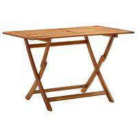 vidaXL Sklopivi vrtni stol 120 x 70 x 75 cm masivno bagremovo drvo