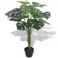 vidaXL Umjetna biljka Monstera s posudom 70 cm Zelena