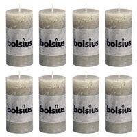 Bolsius rustične debele svijeće 8 kom 100 x 50 mm siva boja škriljevca