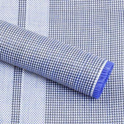 vidaXL Tepih za šator 650 x 250 cm plavi