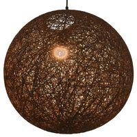 vidaXL Viseća svjetiljka smeđa kuglasta 55 cm E27