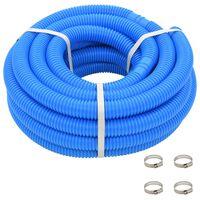 vidaXL Crijevo za bazen sa stezaljkama plavo 38 mm 12 m