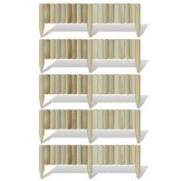 vidaXL Paneli od cjepanica za travnjak 5 kom drveni 120 cm