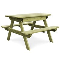 vidaXL Stol za piknik s klupama 90x90x58 cm od impregnirane borovine