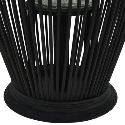 vidaXL Viseći svijećnjak od bambusa crni 60 cm