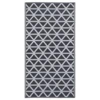 vidaXL Vanjski tepih crni 120 x 180 cm PP