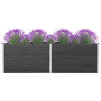 vidaXL Vrtna posuda za sadnju 300 x 50 x 91 cm WPC siva