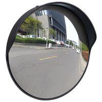 Konveksno vanjsko prometno ogledalo od PC plastike crno 30 cm