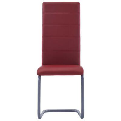 vidaXL Konzolne blagovaonske stolice od umjetne kože 4 kom crvene