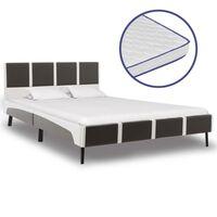 vidaXL Krevet od umjetne kože s memorijskim madracem 120 x 200 cm