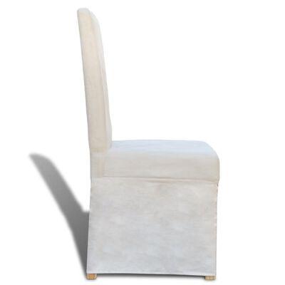 vidaXL Blagovaonske stolice od tkanine 4 kom krem bijele