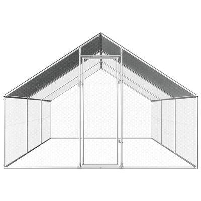 vidaXL Vanjski kavez za kokoši od pocinčanog čelika 2,75 x 6 x 1,92 m