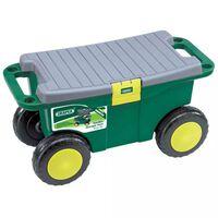 Draper Tools vrtna kolica za alat i sjedalica 56x27,2x30,4 cm zelena