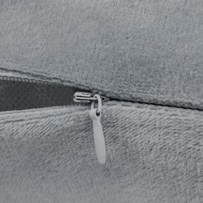 vidaXL Jastučnice od velura 4 kom 50x50 cm sive