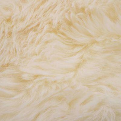 vidaXL Tepih od ovčje kože 60 x 90 cm bijeli