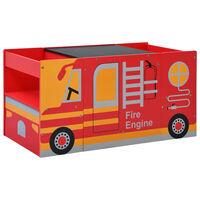 vidaXL 3-dijelni dječji set stola i stolica dizajn vatrogasnog vozila