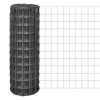 vidaXL Euro ograda čelična 10 x 1 m siva