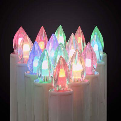 vidaXL Božićne bežične LED svijeće s daljinskim upravljačem 100 kom RGB