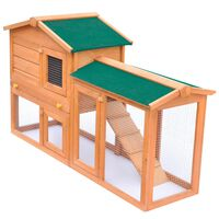 vidaXL Vanjski veliki kavez za zečeve i male životinje drveni kavez