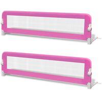 vidaXL Sigurnosna ogradica za dječji krevet 2 kom ružičasta 150 x 42 cm