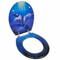 vidaXL Sjedalo za WC školjku MDF dezen delfina