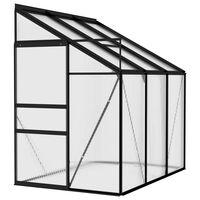vidaXL Greenhouse Anthracite Aluminium 3,8 m³