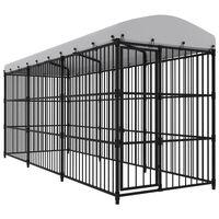 vidaXL Vanjski kavez za pse s krovom 450 x 150 x 210 cm
