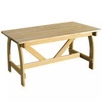 vidaXL Vrtni stol 150 x 74 x 75 cm od impregnirane borovine