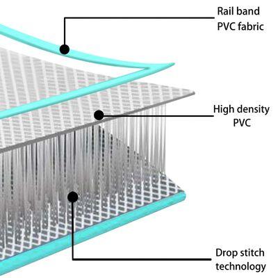 vidaXL Strunjača na napuhavanje s crpkom 400 x 100 x 10 cm PVC zelena