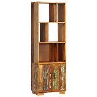 vidaXL Police za knjige od masivnog obnovljenog drva 60 x 35 x 180 cm