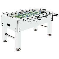 vidaXL Stolni nogomet čelični 60 kg 140 x 74,5 x 87,5 cm bijeli