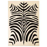 vidaXL Moderni tepih sa zebrastim uzorkom 120 x 170 cm bež/crni