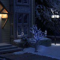 vidaXL Božićno drvce sa 128 LED žarulja plavo svjetlo 120 cm