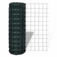 vidaXL Euro ograda čelična 10 x 1,0 m zelena
