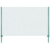 vidaXL Ograda od žičane mreže sa stupovima čelična 25 x 1,5 m zelena