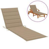 vidaXL Jastuk za ležaljku za sunčanje bež 200 x 50 x 4 cm od tkanine