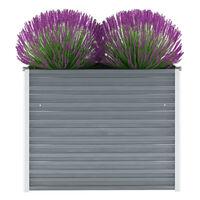 vidaXL Vrtna sadilica od pocinčanog čelika 100 x 40 x 77 cm siva
