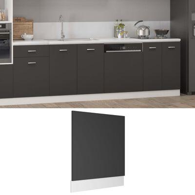 vidaXL Ploča za perilicu posuđa siva 59,5 x 3 x 67 cm od iverice