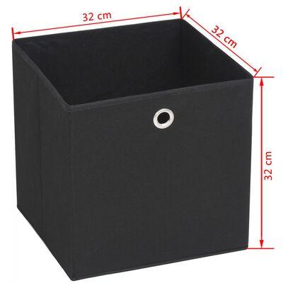 vidaXL Kutije za pohranu od netkane tkanine 4 kom 32x32x32 cm crne