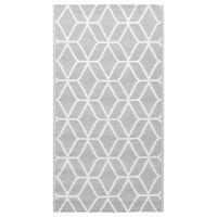 vidaXL Vanjski tepih sivi 80 x 150 cm PP