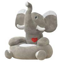 vidaXL Plišana dječja fotelja u obliku slona siva