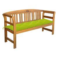 vidaXL Garden Bench with Cushion 157 cm Solid Acacia Wood (44131+314967)
