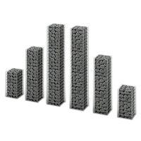 vidaXL 6-dijelni set gabiona od pocinčane žice