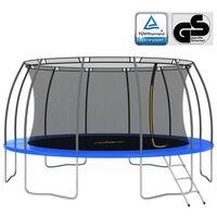vidaXL Set trampolina okrugli 488 x 90 cm 150 kg
